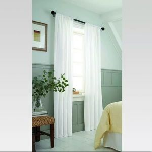 Light Filtering Curtain Panel White Two Panels